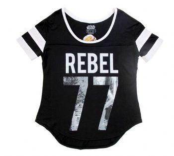 Star Wars Rebel 77 Juniors Black T-Shirt