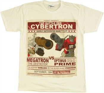 Transformers The Battle for Cybertron Main Event Optimus Prime vs Megatron T-Shirt Sheer