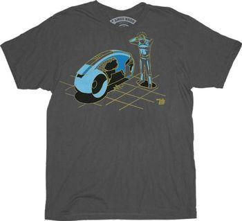 Ames Bros Damn 2.0 Vintage Graphic Tron Charcoal Adult T-shirt