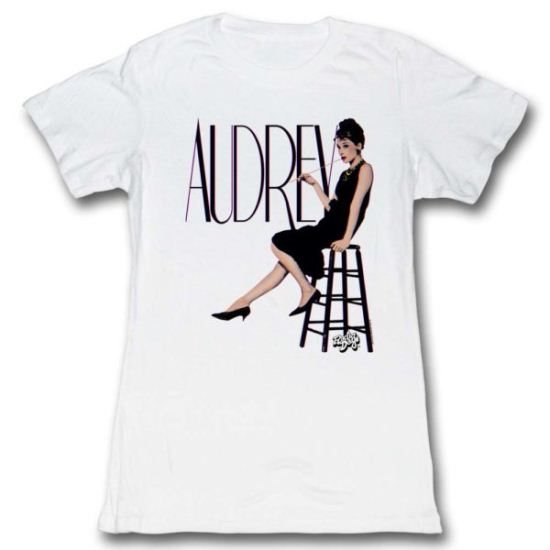 Audrey Hepburn Shirt Juniors In 3Ds White Tee T-Shirt