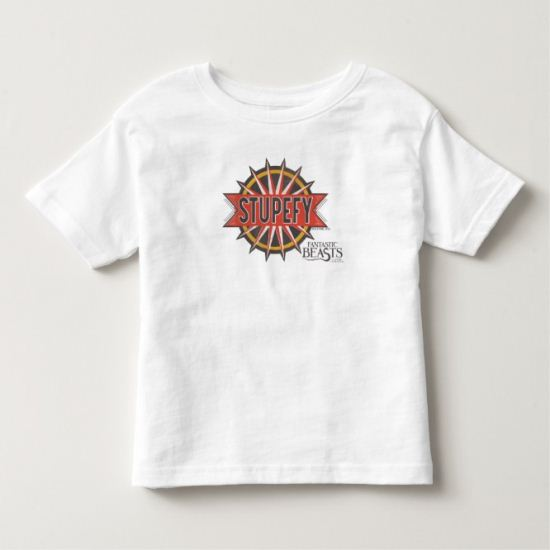 Red & Gold Stupefy Spell Graphic Toddler T-shirt