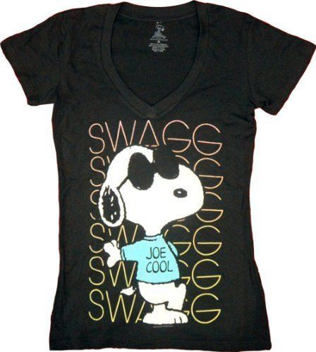 Peanuts Swagg Snoopy Joe Cool V-Neck T-shirt