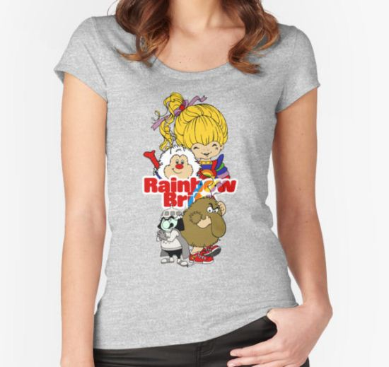 Rainbow Brite - Group Logo #1 - Color  Women's Fitted Scoop T-Shirt by DGArt T-Shirt