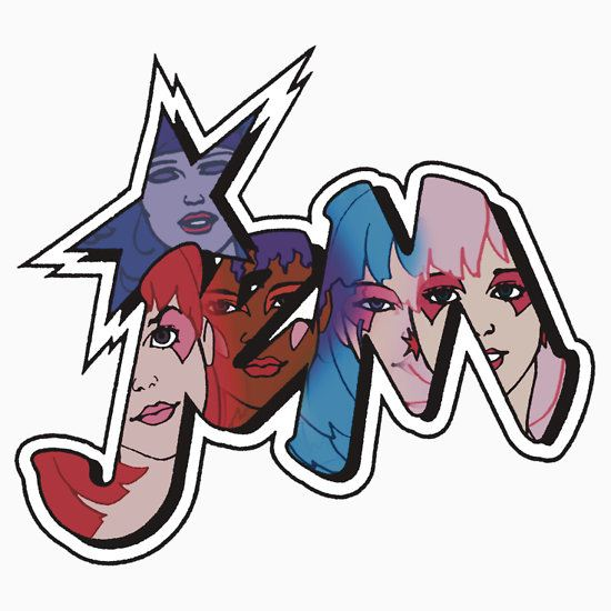 Jem and the Holograms - Logo - Group Color by DGArt T-Shirt
