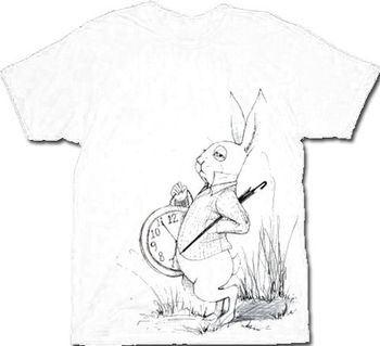 Alice in Wonderland White Rabbit Clock Men's T-Shirt