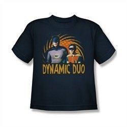 Classic Batman Shirt Kids Dynamic Duo Navy T-Shirt