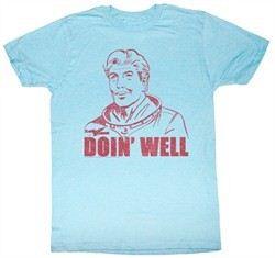Flash Gordon T-Shirt Movie Doin Well Adult Light Blue Tee Shirt