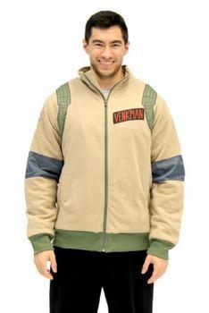 Ghostbusters Venkman Adult Zip Up Costume Hoodie Sweatshirt