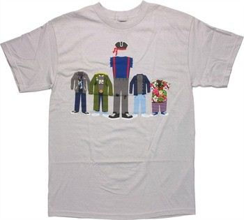 The Goonies Group Empty Outfits T-Shirt
