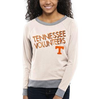 Tennessee Volunteers Women's Crazy Love Boat Neck Long Sleeve T-Shirt – Cream