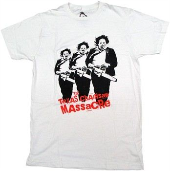 Texas Chainsaw Massacre Triple Leatherface T-Shirt Sheer