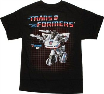 Transformers Jazz G1 Box Art T-Shirt
