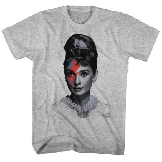 Audrey Hepburn Shirt Audrinsane Grey Heather Tee T-Shirt