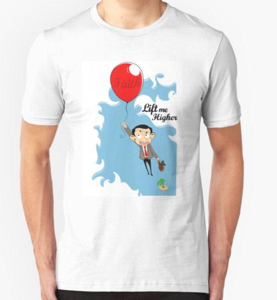Mr. Bean in Faith Baloon T-Shirt by kikkawa T-Shirt