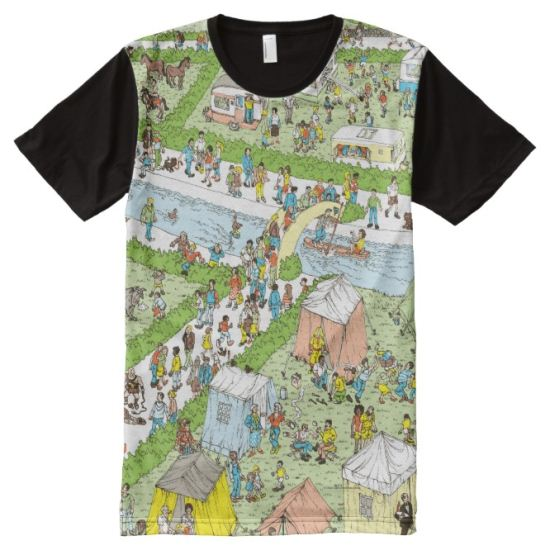 Where's Waldo Campsite All-Over Print T-shirt