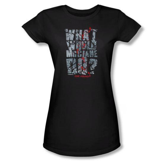 Die Hard Shirt Juniors WWMD Black Tee T-Shirt