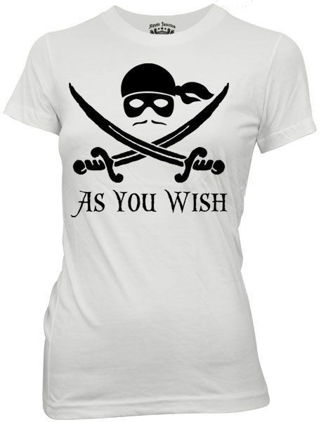 The Princess Bride As You Wish White Juniors T-Shirt