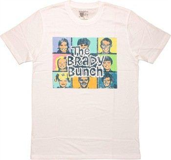 Brady Bunch Vintage Pastel Group T-Shirt Sheer