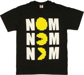 Pac-Man Nom Nom Nom Eating T-Shirt