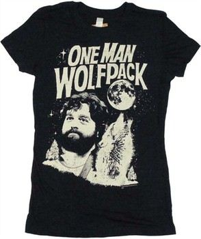 The Hangover Alan Garner One Man Wolfpack Baby Doll Tee