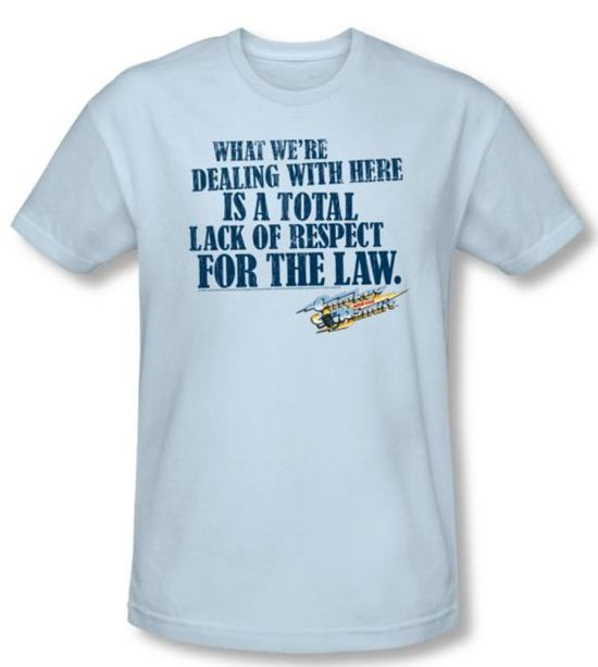 Smokey And The Bandit Shirt Lack Of Respect Light Blue Slim Fit Shirt