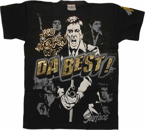 Scarface Da Best Black T-Shirt