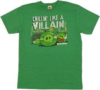 Angry Birds Pigs Chillin' Like a Villain T-Shirt Sheer