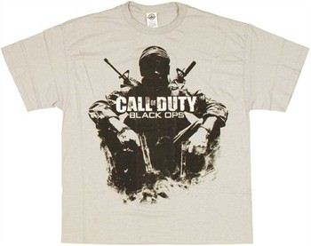Call of Duty Black Ops Soldier Sitting Silhouette T-Shirt