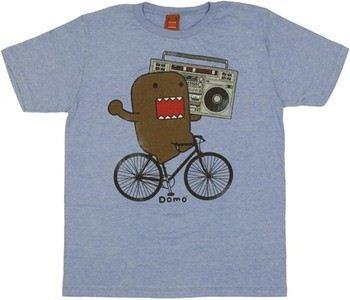 Domo-Kun Boombox Bike T-Shirt Sheer