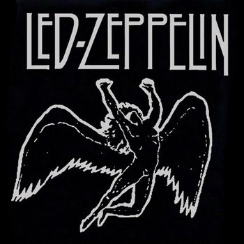 Led Zeppelin Angel Logo 96 awesome led zeppelin t-shirts - teemato.com Rock Band Silhouette