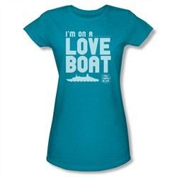 The Love Boat Shirt Juniors I'm On A Love Boat Turquoise T-Shirt