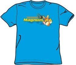 Magnum PI T-shirt Hawaiian Life Adult Turquoise Tee Shirt