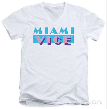 Miami Vice - Logo V-Neck