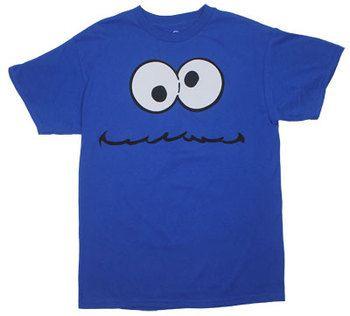 Cookie Monster Face - Sesame Street T-shirt