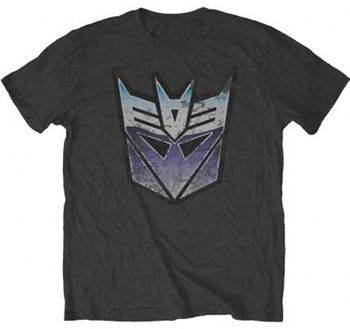 Transformers Vintage Decepticon Dark Charcoal Adult T-shirt