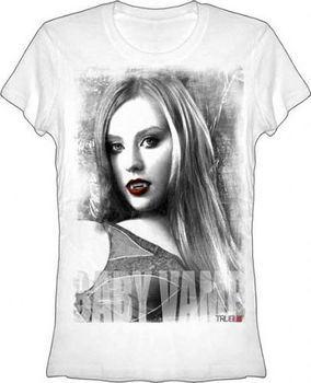True Blood Baby Vamp Vintage White Juniors T-shirt