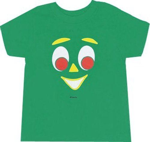 Gumby Clay Face Green Youth Tee