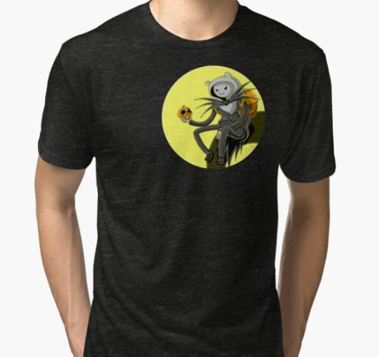 HalloweenTime Tri-blend T-Shirt by LuAnne Boudier T-Shirt