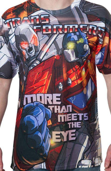 Optimus Prime vs Megatron Sublimation Shirt
