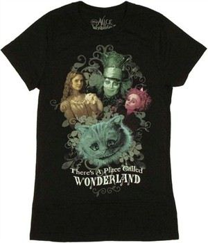 Alice in Wonderland There's a Place Called Wonderland Baby Doll Tee by MIGHTY FINE