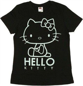 Hello Kitty Outline with Name Ladies Tee by MIGHTY FINE