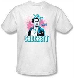 Miami Vice T-shirt James Crockett Adult White Tee Shirt