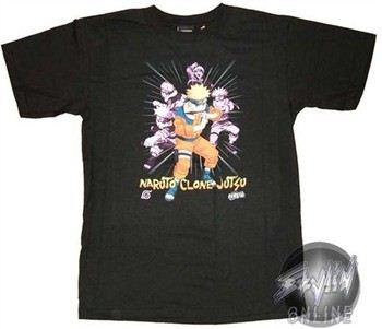 Naruto Clone No Jitsu Pose T-Shirt