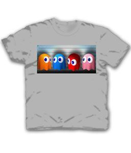 Pac-Man Usual Suspects Ghosts Adult White T-Shirt
