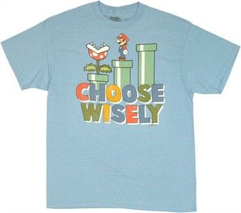 Nintendo Super Mario Choose Wisely T-Shirt