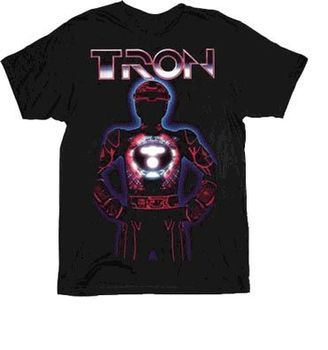 Tron Armor Black Adult T-shirt