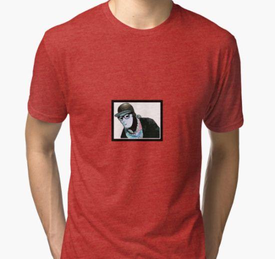 JABBAWOCKEEZ Sketch Tri-blend T-Shirt by chriisbui T-Shirt