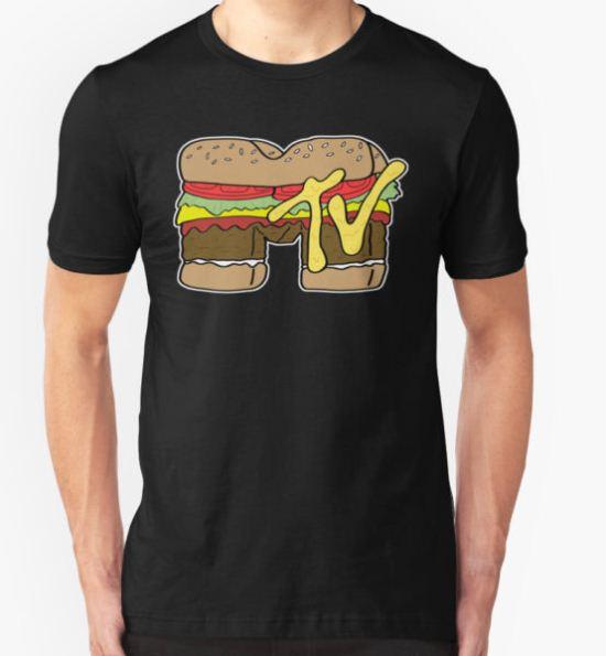 MTV Burger Logo T-Shirt by bruceperdew T-Shirt