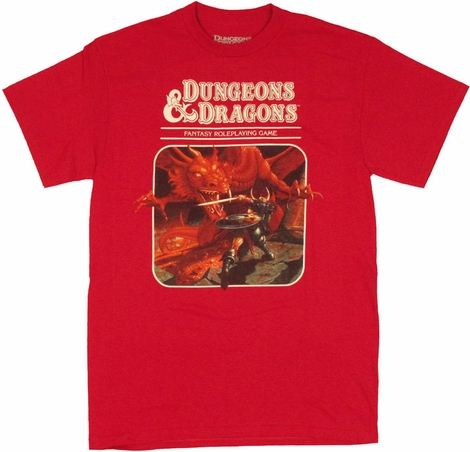 Dungeons and Dragons Fantasy Game T Shirt
