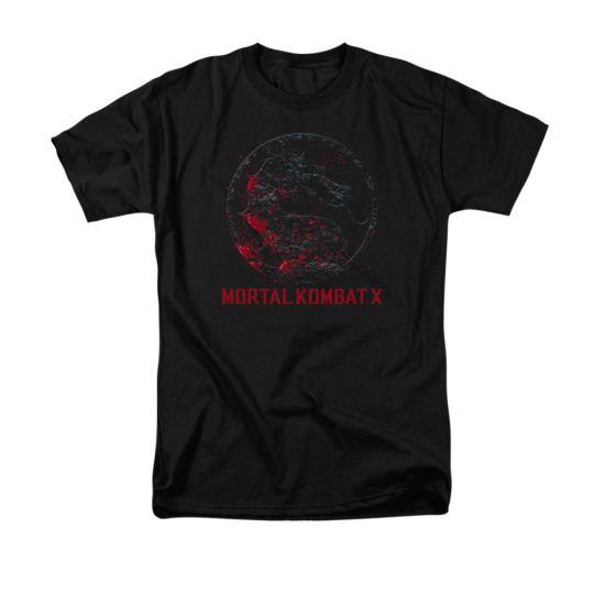 Mortal Kombat Shirt Bloody Logo Black T-Shirt